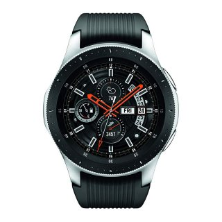 ساعة سامسونج جالكسي للرجال الذكية ، بلوتوث ، (46 ملم) فضي / أسود