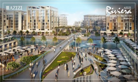 صور Azizi Riviera is a waterfront community located in Meydan one 1
